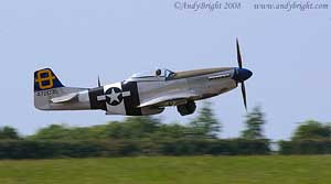 Mustang taking off at Biggin Hill