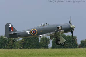 Hawker Sea Fury taking off